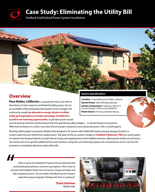 Outback Case study featuring Mobile Solar